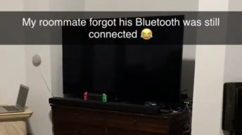 Roommate forgets he's connected to bluetooth