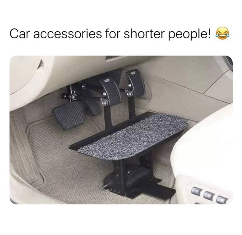 Car accessories for shorter people
