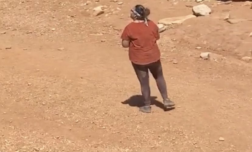 Pranking a woman from inside a cave