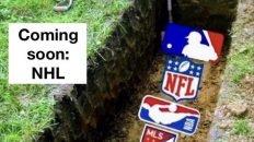 Coming soon NHL graveyard meme