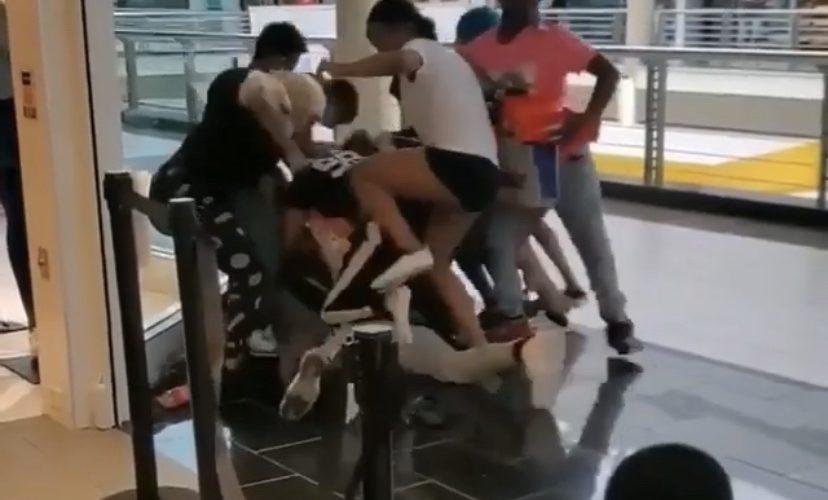 Coronavirus mall brawl