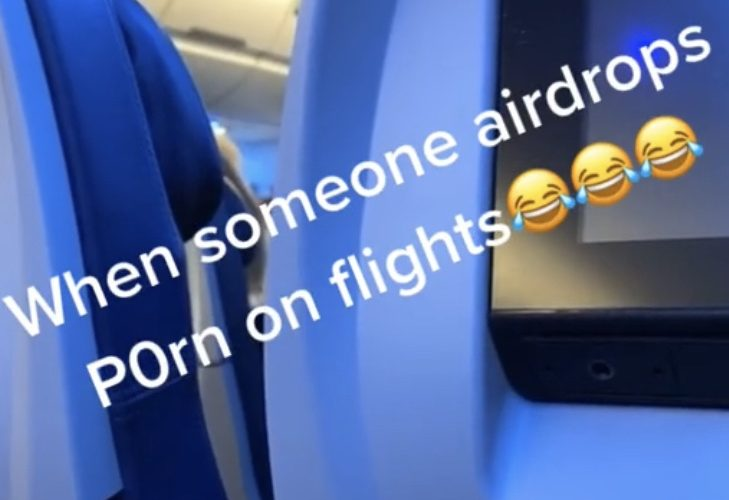 Dirty AirDrop on plane