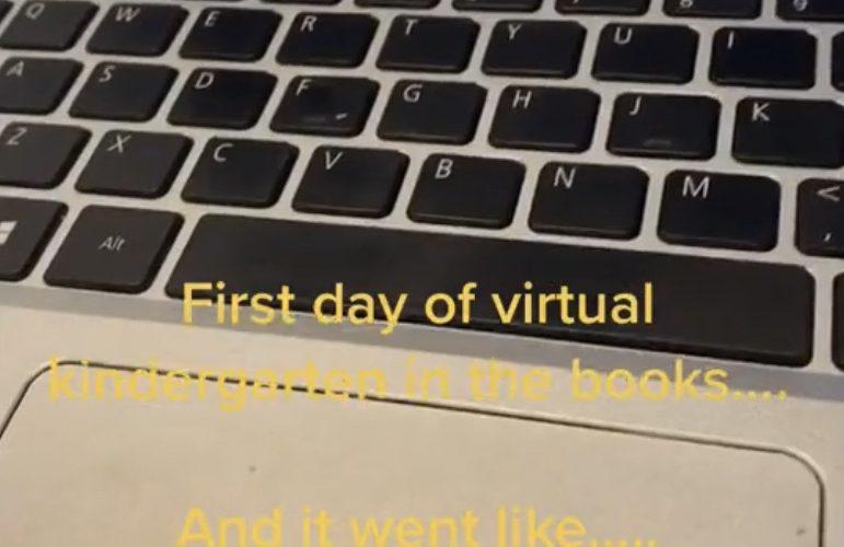 Funny kindergarten virtual class