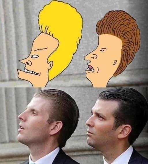 Donald Trump sons Bevis and Butt-head meme