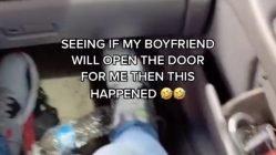 Seeing if boyfriend will open door challenge