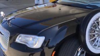 Old school shows off his custom car