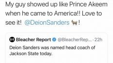 Deion Sanders the head coach of Jackson State University