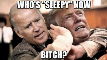 Who's sleepy now Joe Biden & Donald Trump meme