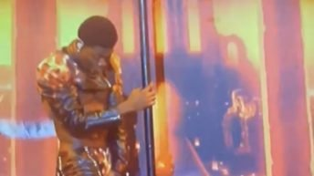Lil Nas X rips pants during live SNL performance
