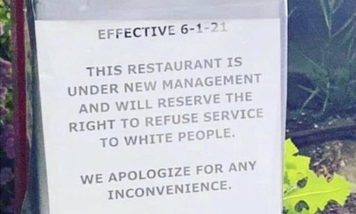 St. Louis Missouri Popeyes refusing service of white people sign