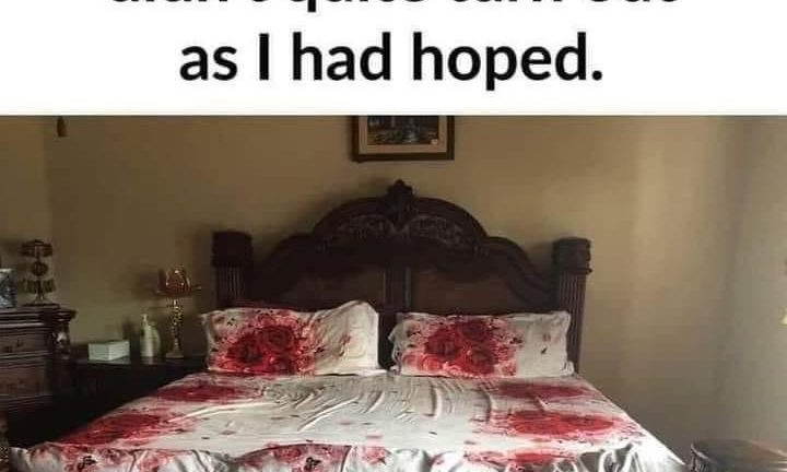 The rose patterned bed sheets that I bought didn't quite turn out as I had hoped meme