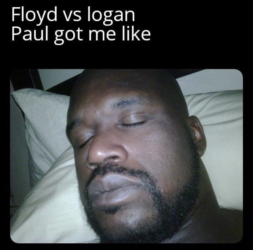 Floyd vs Logan Paul got me like meme
