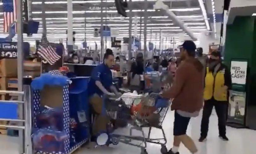 Customer spits on Walmart employee