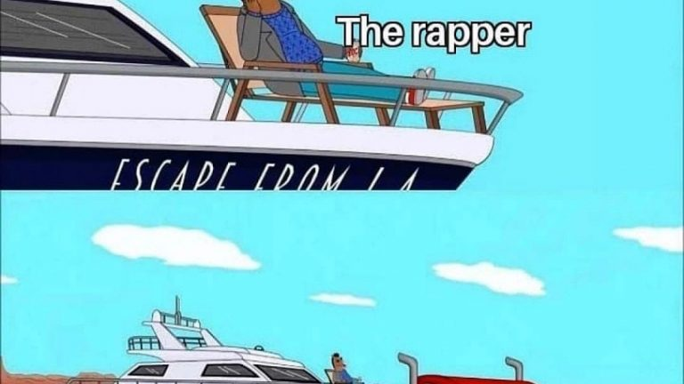 The rapper vs the producer Bojack Horseman meme