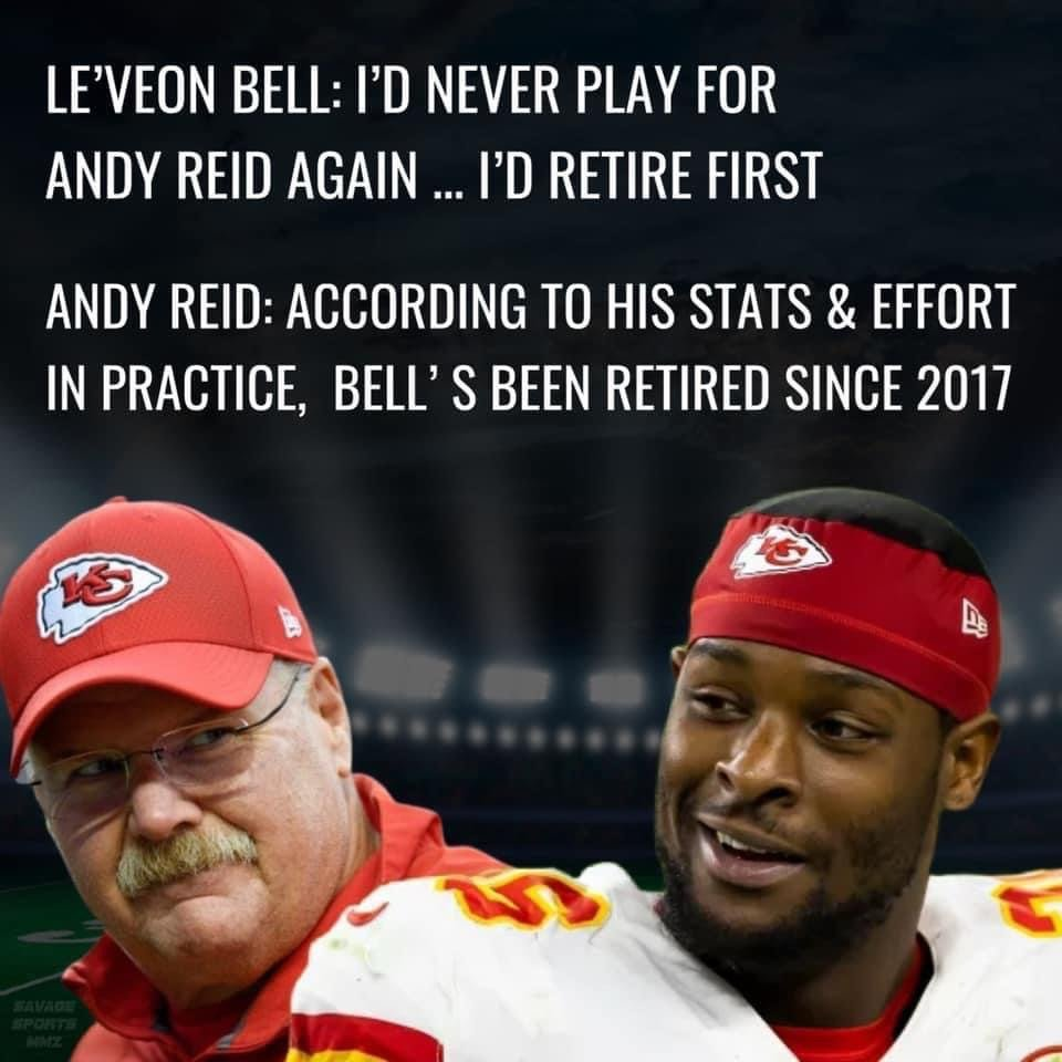 Andy Reid responds to Le'Veon Bell