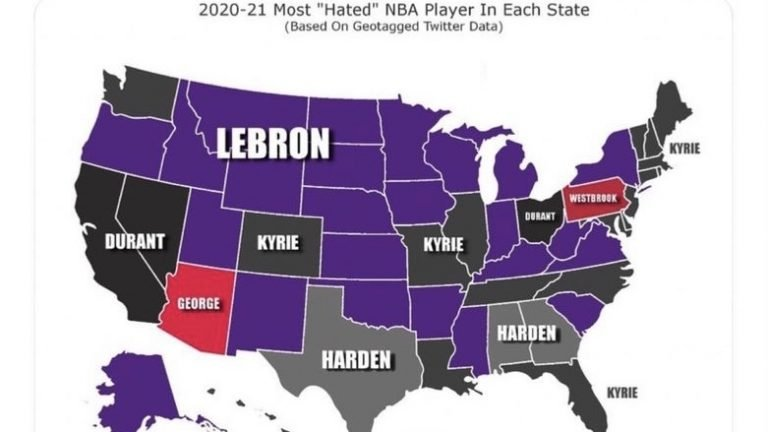 Lebron James is the most hated NBA player in the country
