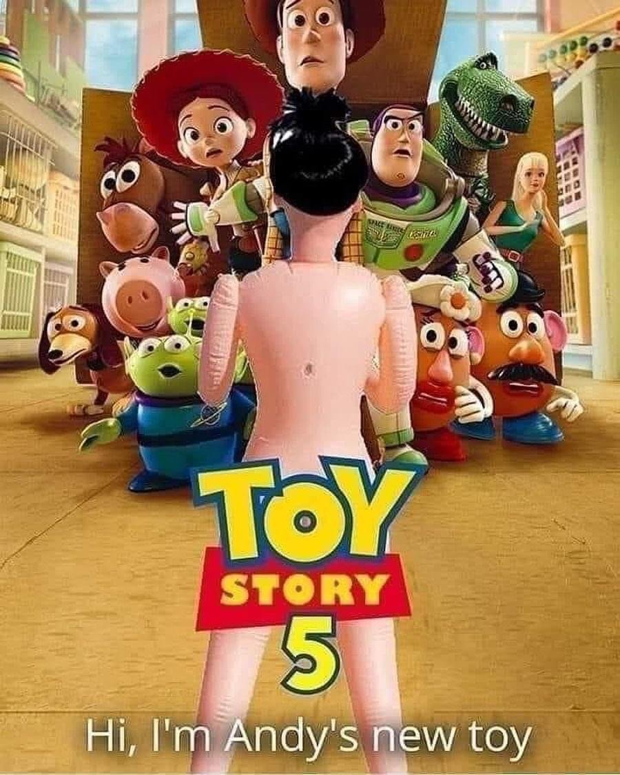 Toy Story 5 hi, I'm Andy's new toy meme