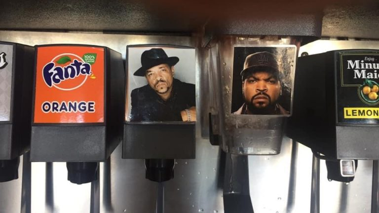 Ice T and Ice Cube drink meme