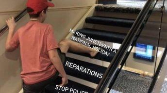 USA Juneteenth meme