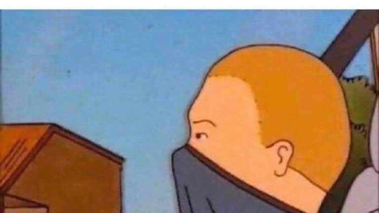 Person lighting a cigarette vs me Bobby Hill King of the Hill meme