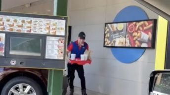 Sonic carhop delivers falling meal