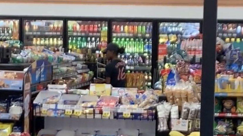 Convenient store shoplifter caught stealing
