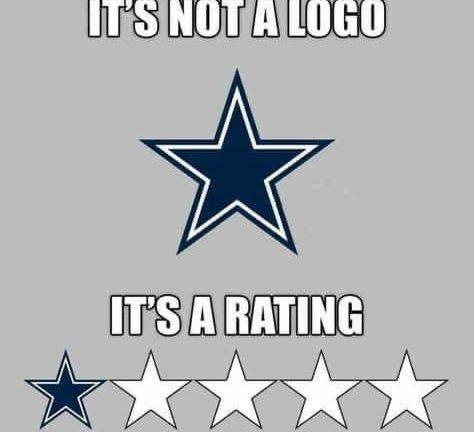 It's not a logo it's a rating Dallas Cowboys meme