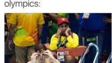 If you feel useless today, remember somebody is working as a lifeguard at the Olympics meme