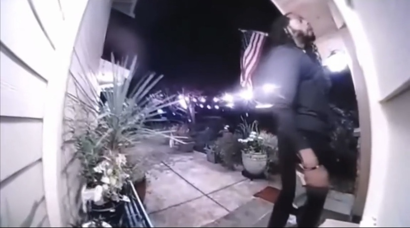 Footage of Richard Sherman at father in law's home