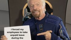 I forced my employees to take unpaid leave during the pandemic so that I could afford this Richard Branson meme