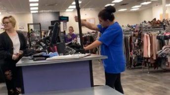 Lady has a store meltdown