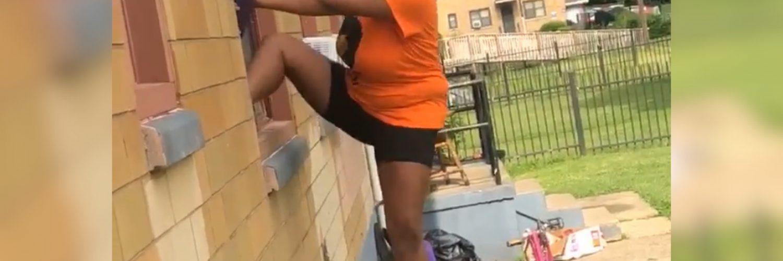 Window climbing fail