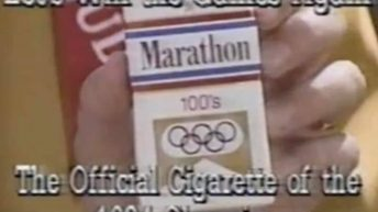 Let's win the games again the official cigarette of the 1984 Olympics