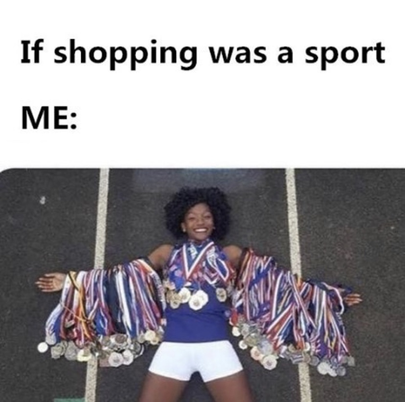 If shopping was a sport Olympic meme