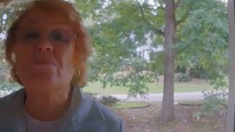 Karen confronts a neighbor for a Tiger flag
