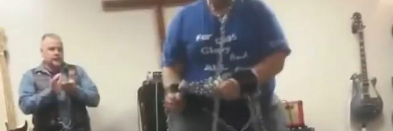 Man breaks every chain in church