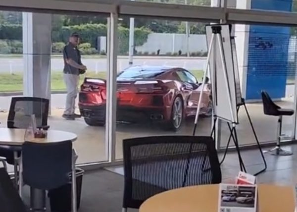 Person dealership test C8 Corvette