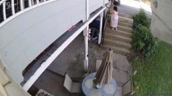 Neighbors gets caught throwing trash on porches