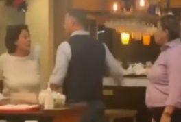 Karen snaps in restaurant over face mask