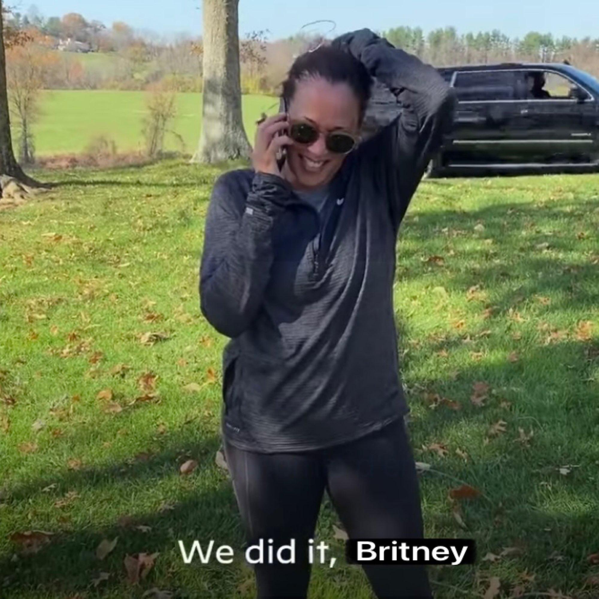 We did it, Britney Kamala Harris winning meme