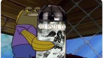 here king, you dropped this Lego Bionicle Spongebob meme