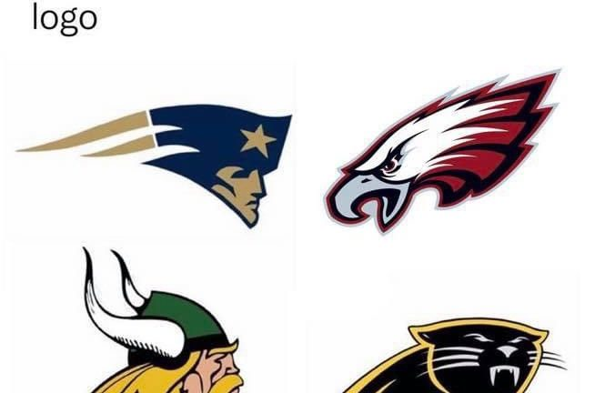 We all know that one high school who just straight up uses an NFL logo meme