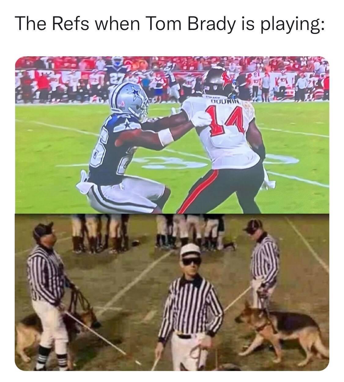 The refs when Tom Brady is playing meme