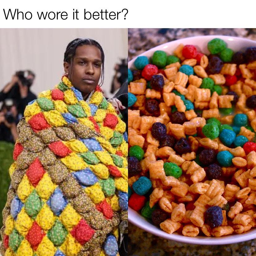 Who wore it better ASAP Rocky Met Gala 2021 meme