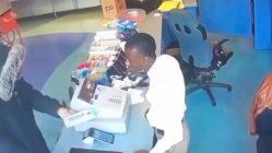 Failed robbery caught on camera