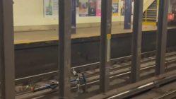 Bike gets thrown on subway tracks