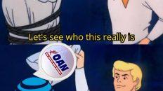 OAN is AT&T Scooby Doo criminal mask meme
