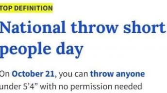 National throw short people day