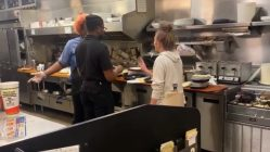 Waffle House workers get into an argument