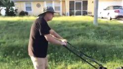 Chris Laundrie finally mows yard